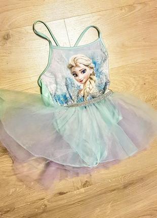 Клевый карнавальный костюм платье бодик с юбкой пачкой бирюзово сиреневый