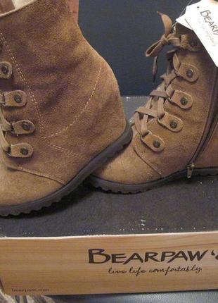 Шикарные сапоги, натуральные зимние ботинки из америки bearpaw, разм. 36-37