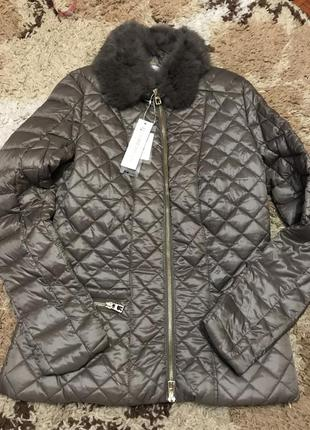 Оригинальная итальянская куртка rinanscimento с натуральным мехом