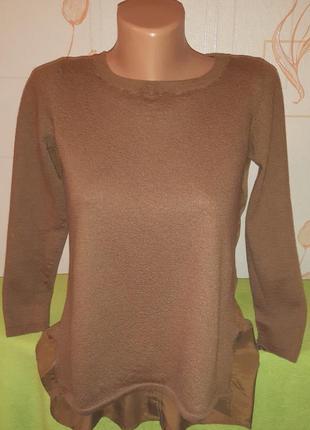 Кофта/блуза/рубашка/свитер от cos шерсть+шёлк спинка на пуговках