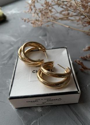 Круги золотые серьги