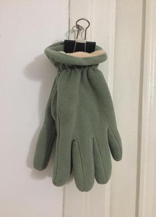 Флисовые перчатки цвет оливка размер xl