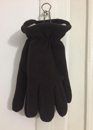 Флисовые перчатки цвет черный размер xl