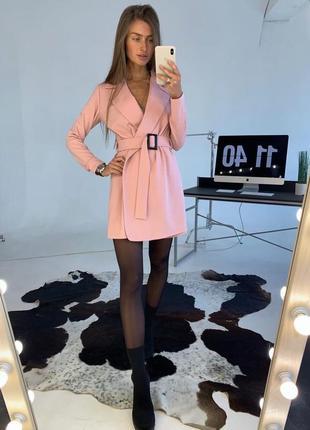 Пудровое платье -комбинезон