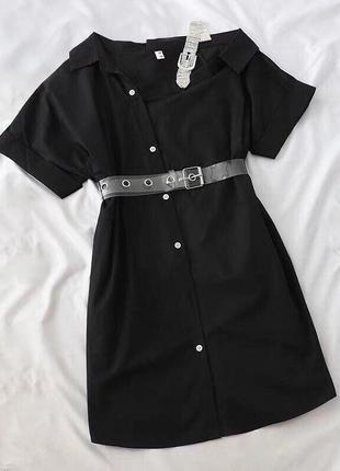 Платье-рубашка с силиконовым ремешком