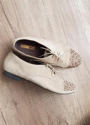 Мокасины, туфли замшевые