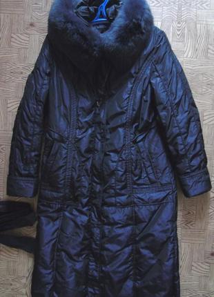 Пуховое пальто 50 разм.