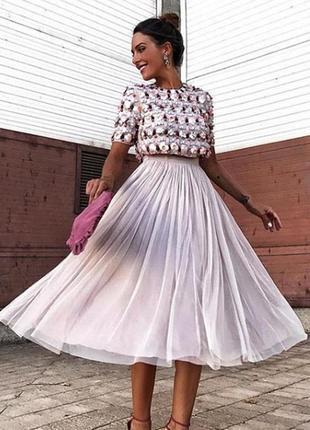 🔥🔥🔥 осінній розпродаж!asos сукня на випускний  великі паєтки шифон доставка сутки