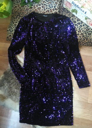 Шикарное нарядное черное платье миди в пайетки ,велюр пайетка 3 цвета