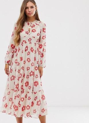 💎💖розпродаж колекції!невагома сукня з квітковим принтом доставка сутки