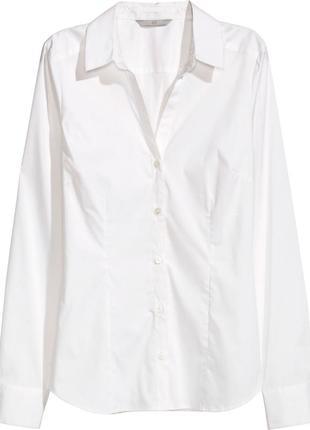 Белая рубашка, блузка h&m