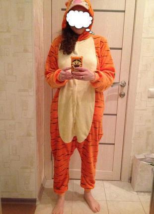 ... Кигуруми тигр kigurumi халат домашний костюм комбинезон фланель3 cfab994fbc0e6