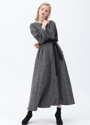 Невероятно крутое платье с плотной ткани длиной maxi