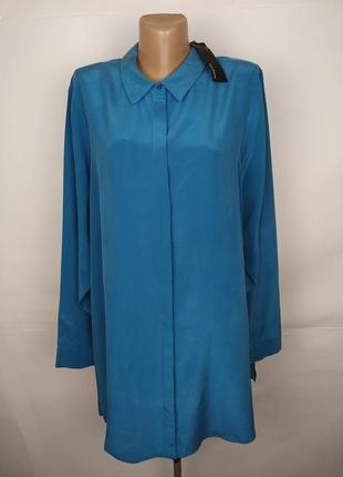 Блуза 100% шелк!!! новая шикарная шелковая большой размер autograph uk 22/50/4xl