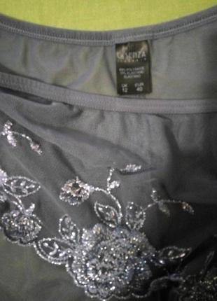 Трусики с вышивкой серебром от la senza, наш 48р