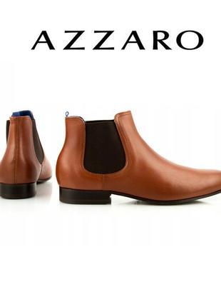 Azzaro-новые эксклюзивные кожаные ботиночки! дорогой французский бренд! р-р 40