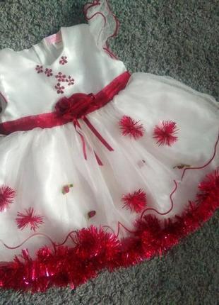 Новорічне платтячко /платье /новогодний костюм  снежинки