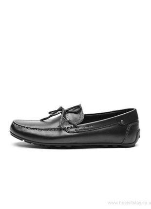 Мужские кожаные туфли мокасины geox
