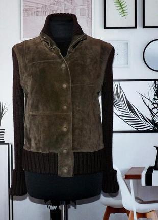 Куртка замшевая с вязаными рукавами и довязом whistler