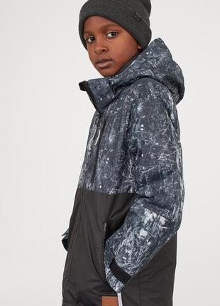 Стильная зимняя водонепроницаемая куртка на мальчика h&m размер 12-13