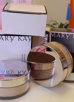 Рассыпная минеральная пудра mary kay, мери кей, 8 г6 фото