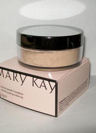 Рассыпная минеральная пудра мери кей mary kay, 8 г. оригинал!!!