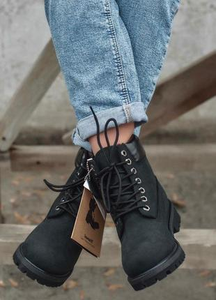 Ботинки timberland black термо ❄️