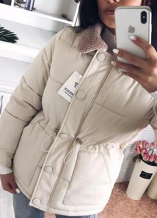 Пуховик парка зима 2019 тёплая тренд 2019 бренд