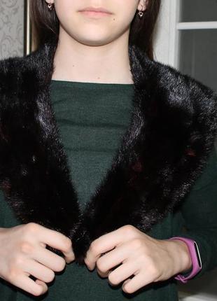 Норковая  меховая натуральная опушка воротник на капюшон  мех