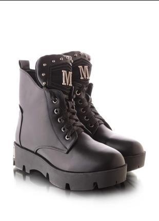 Женские ботинки зимние сапоги зима берцы на тракторной подошве