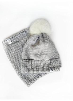 Зимний комплект шапка + снуд