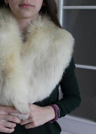 Роскошная натуральная опушка меховый воротник мех
