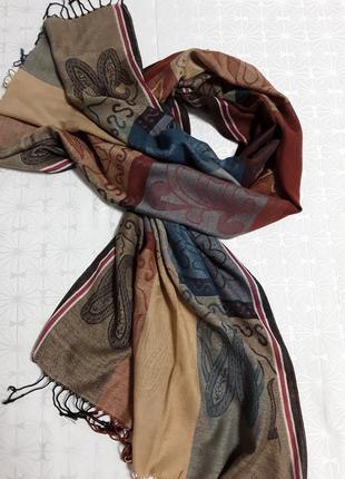 Шелковый палантин ,шарф