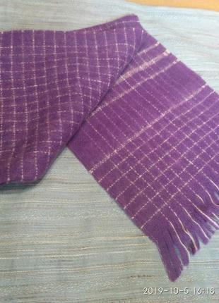 Шикарный шерстяной шерсть мохер винтажный шарф унисекс