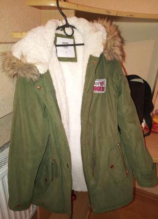 Теплая парка куртка на зиму пальто