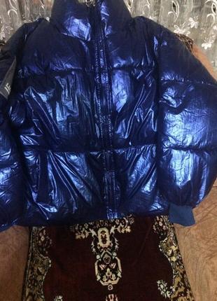 Объёмная куртка на холлофайбере. оверсайз!