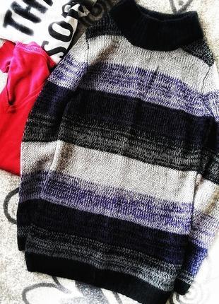 Теплый свитер 30%шерсть