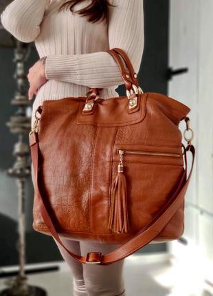 Tesora. большая сумка из натуральной кожи.
