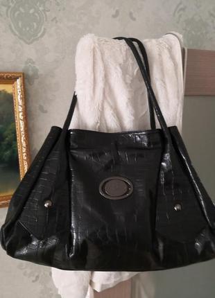 Роскошная кожаная сумка baldinini, италия👜👜💥🌺