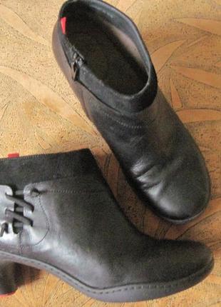 Креативные, кожаные ботинки 38-39р. camper