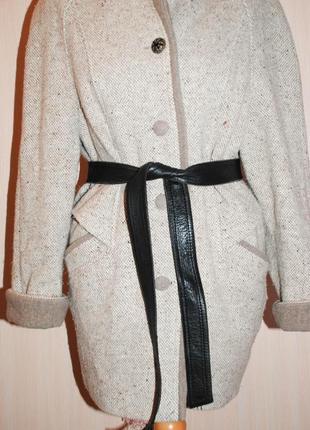 Кожаный пояс черный под шубу пальто плащ