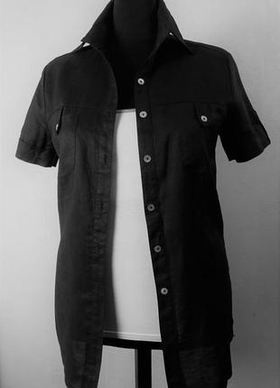 Супер рубашка! элитная эко ткань рами (тонкая крапива)