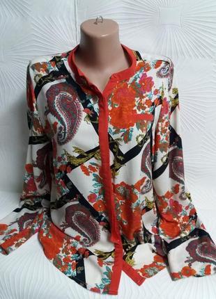 Шикарная яркая блузка из мягкой вискозы