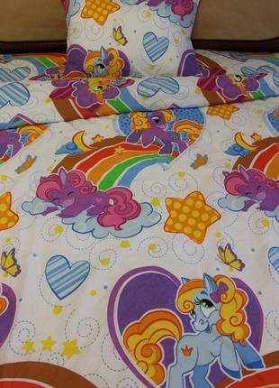 Красивый полуторный комплект постельного белья в наличииф