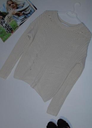 В наличии котоновый бежевый свитер от gap