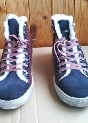 Утепленные стильные замшевые высокие кеды witty knitters сникерсы ботинки