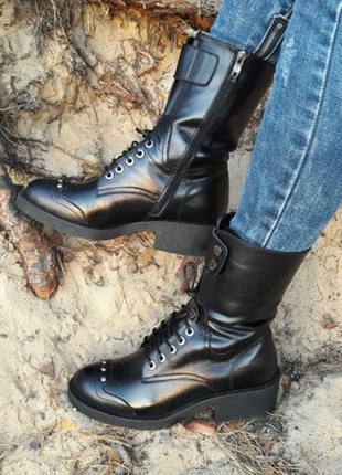Ботинки зимние, натуральная кожа, набивной мех