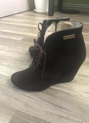 Ботинки, замшевые ботинки, ботики на платформе