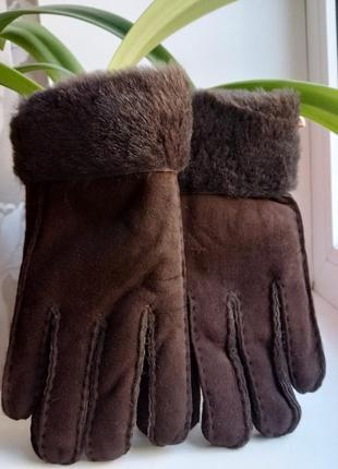 💯%овчина!.перчаточки очень теплые!новые.