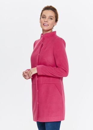 Пальто розовое женское